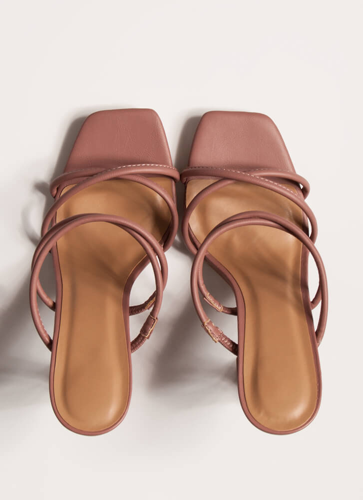 Put Me On A Pedestal Strappy Heels TERRACOTTA
