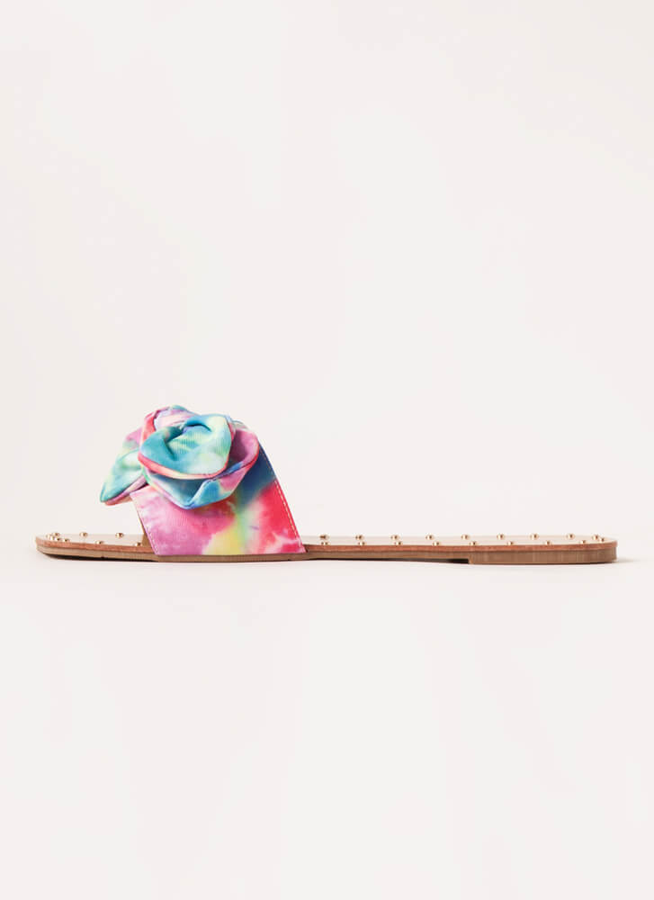 I'm Knot In Studded Bow Sandals MULTI
