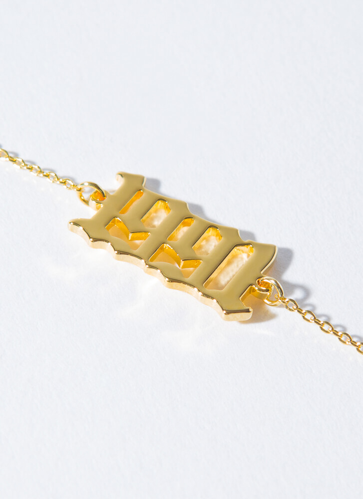 1991 Baby Gold-Dipped Year Anklet GOLD