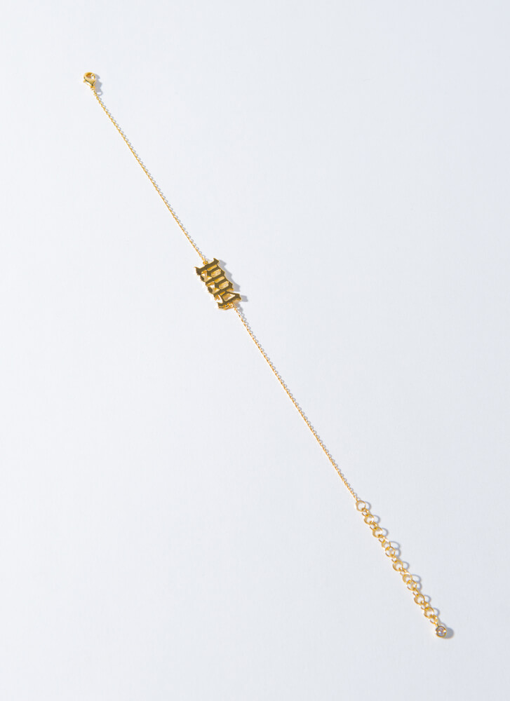 1994 Baby Gold-Dipped Year Anklet GOLD (Final Sale)