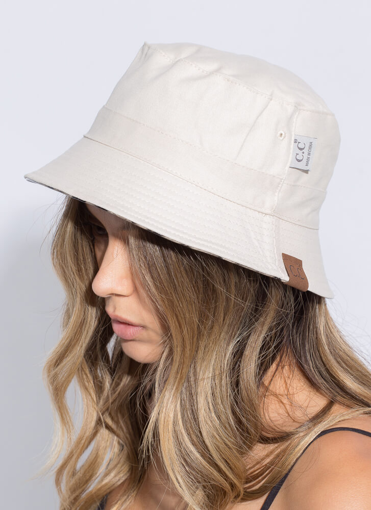 Claws Out Reversible Leopard Bucket Hat BEIGE