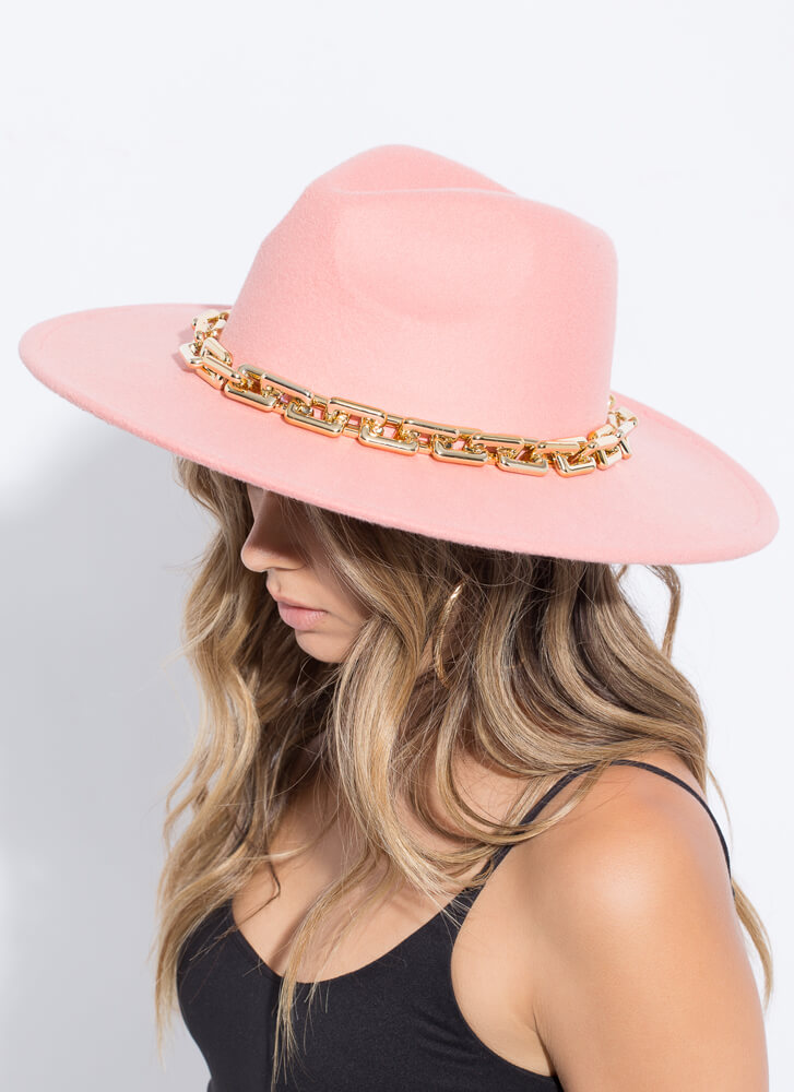Re-Link Everything Chain Accent Fedora PINK
