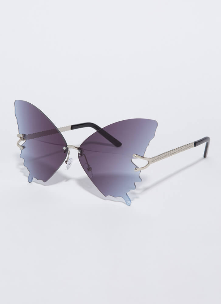 Butterfly Drip Winged Sunglasses GREY
