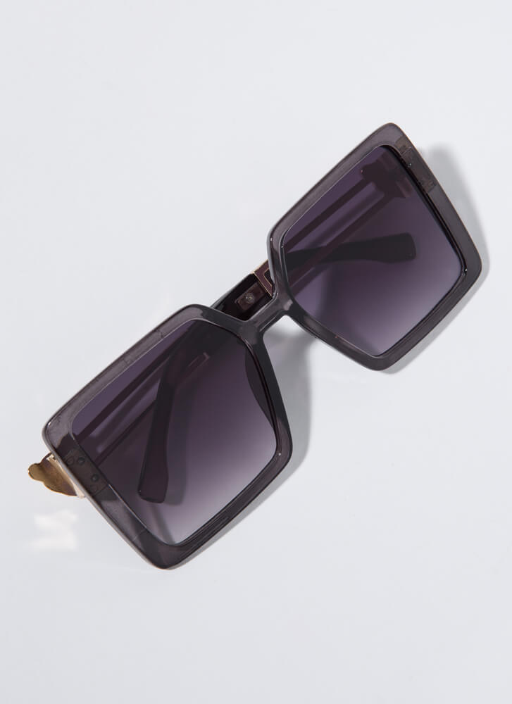 Leopards And Cheetahs Square Sunglasses GREY