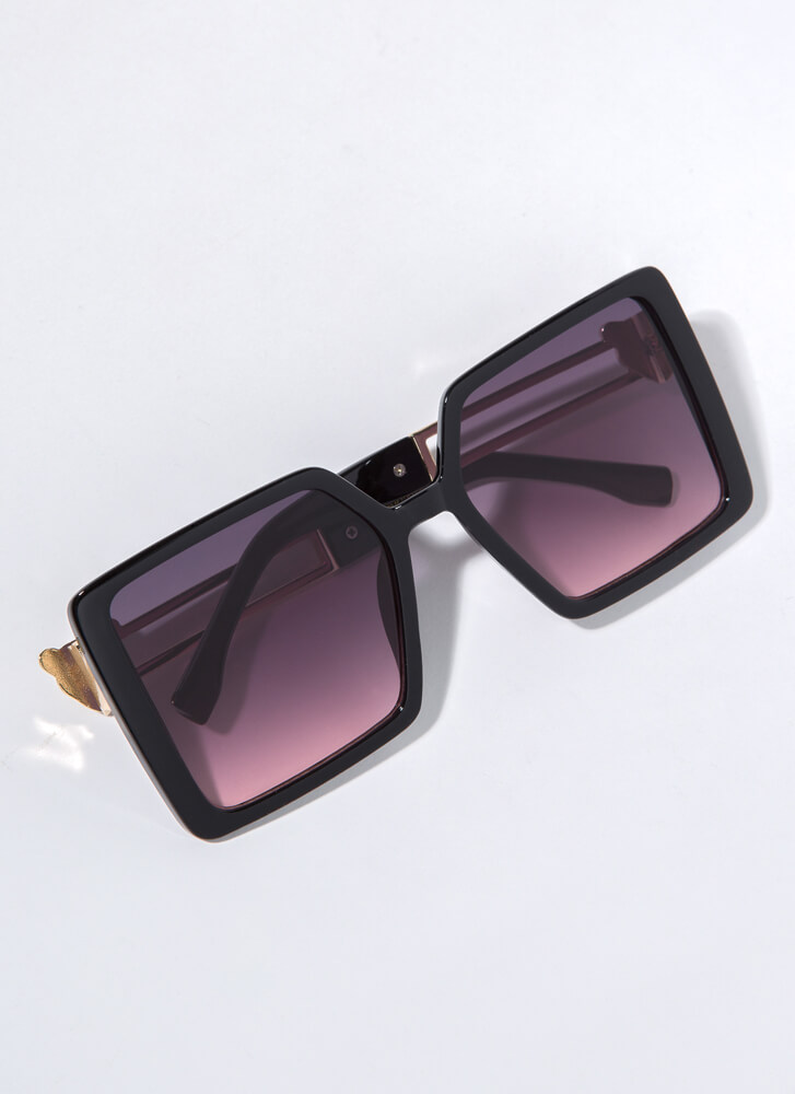 Leopards And Cheetahs Square Sunglasses PINK