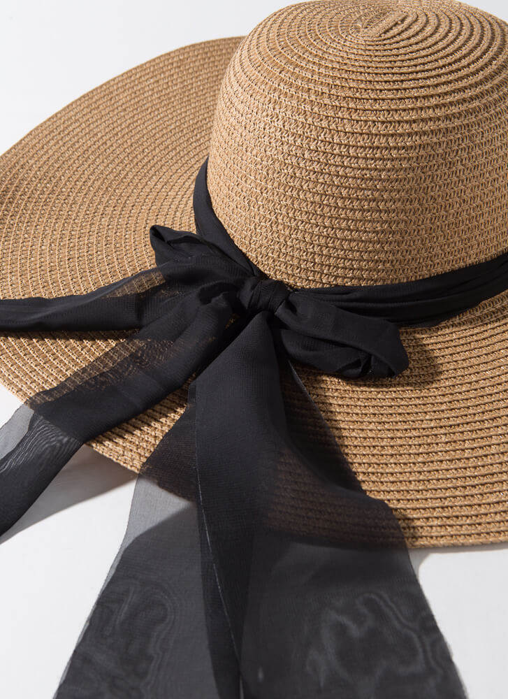 Town And Country Chained Ribbon Sun Hat KHAKI