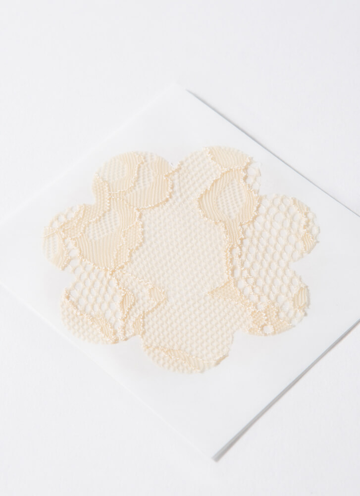 Covered In Lace 3-Pair Pasties Set BEIGE