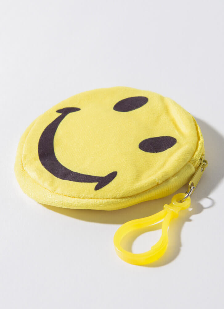 Keep Me Smiling Happy Face Coin Purse YELLOW