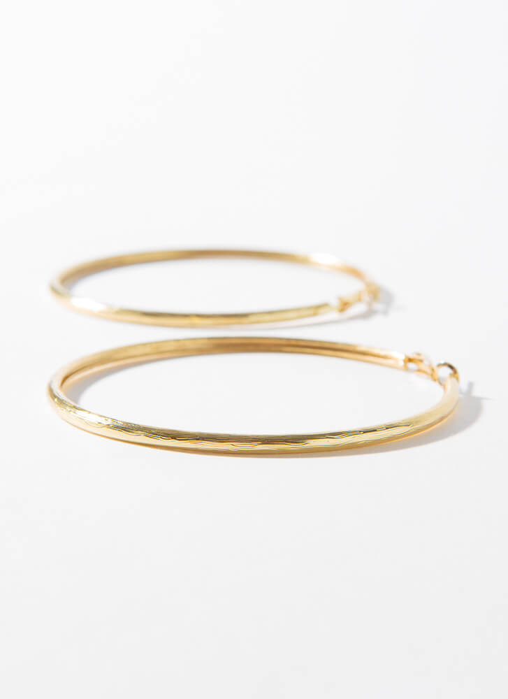 Brush With Fate Oversized Hoop Earrings GOLD