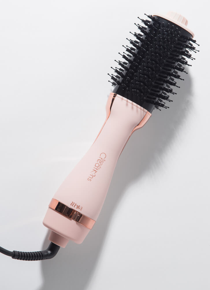 Blowout Round Brush Blow Dryer Styler PINK