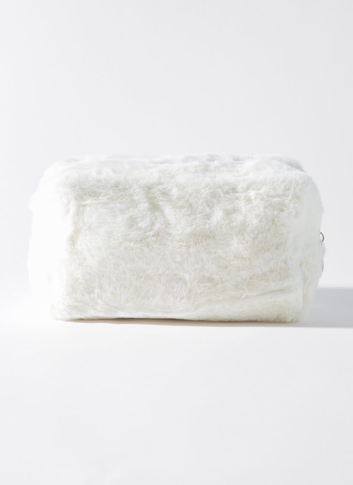 Fur Your Beautiful Face Makeup Pouch WHITE