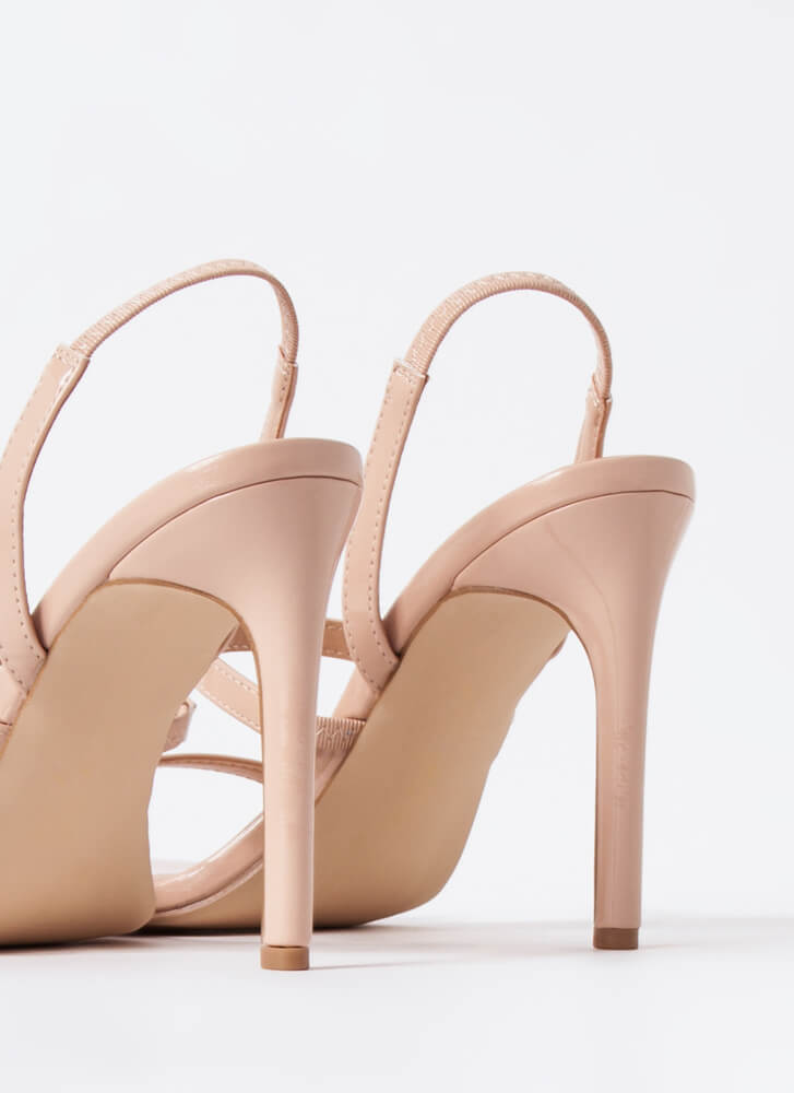 Endless Love Strappy Slingback Heels NUDE