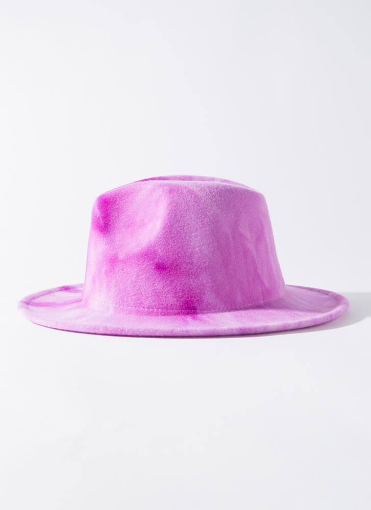 Head In The Clouds Tie-Dye Fedora LILAC