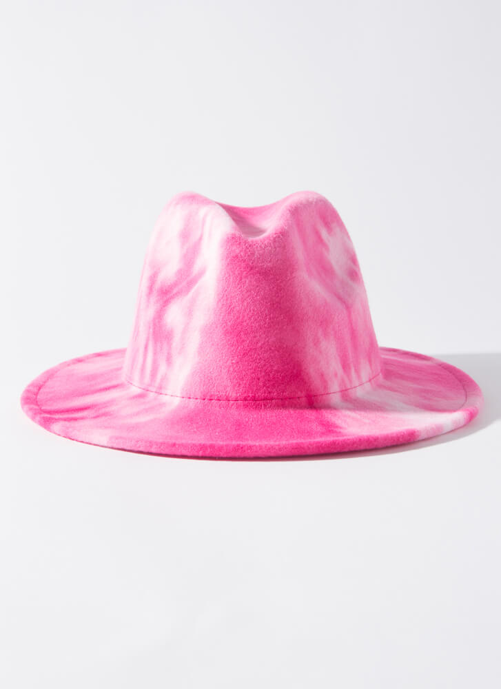 Head In The Clouds Tie-Dye Fedora PINK