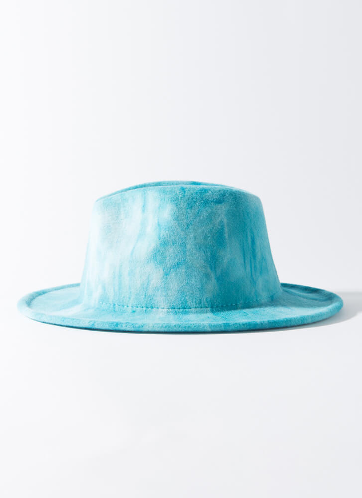 Head In The Clouds Tie-Dye Fedora TURQUOISE