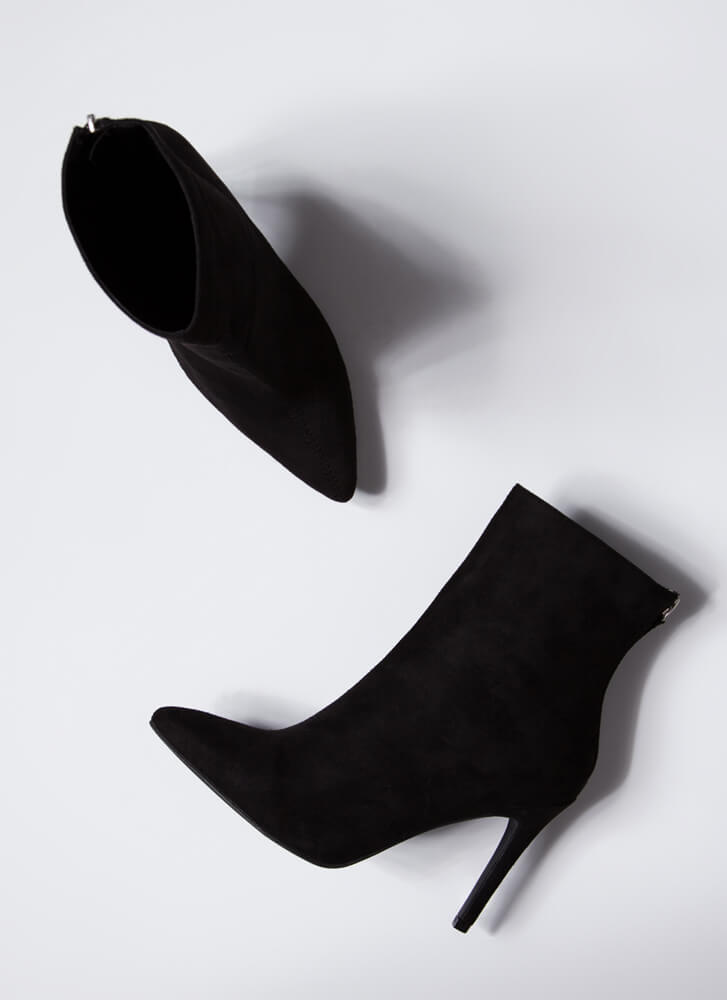 Fall Favorites Pointy Stiletto Booties BLACK