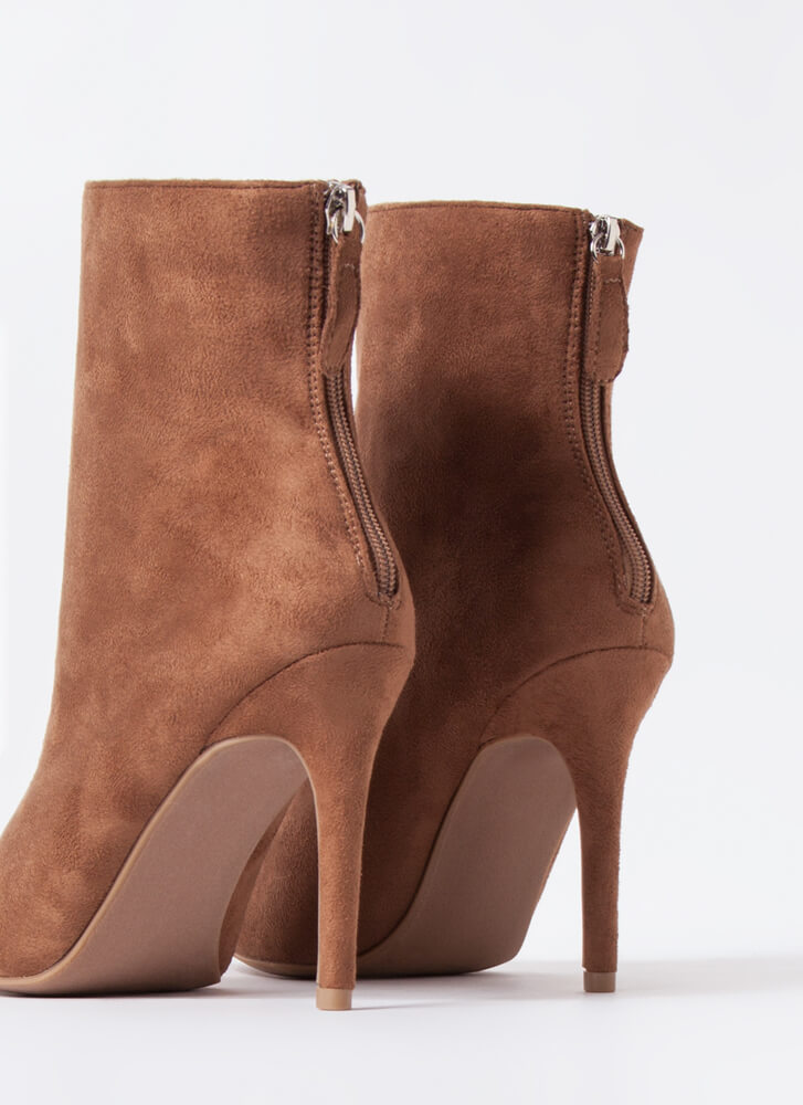 Fall Favorites Pointy Stiletto Booties LTBROWN