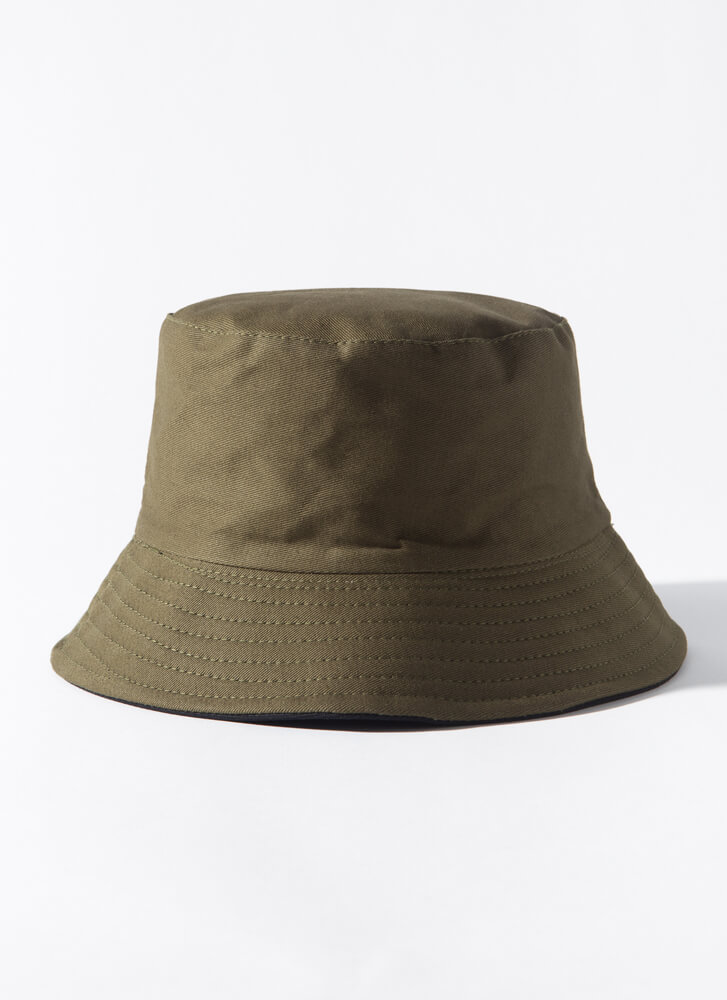 Put It In Reverse Canvas Bucket Hat OLIVE