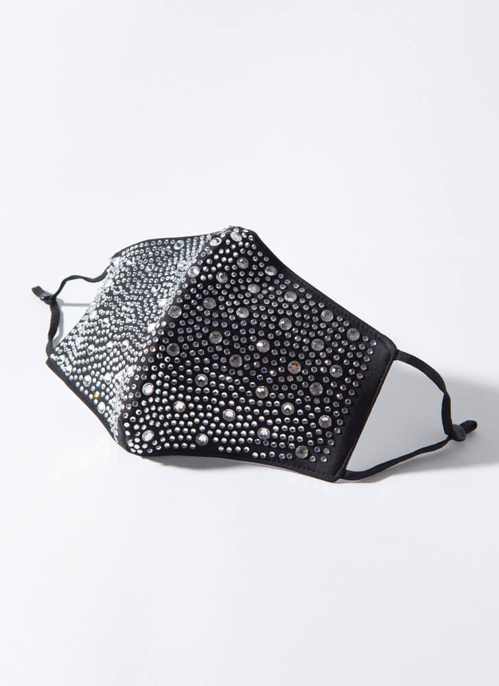 Crystal Clear Pocketed Face Mask BLACKCLEAR
