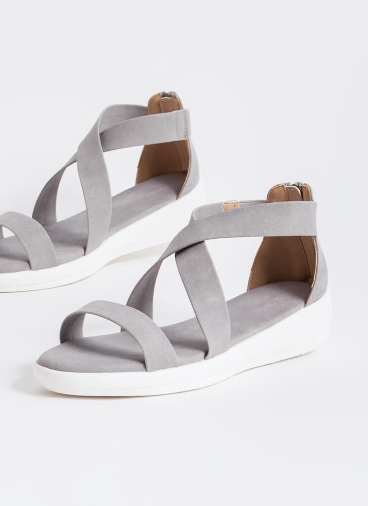 Real Style Strappy Platform Sandals ICE