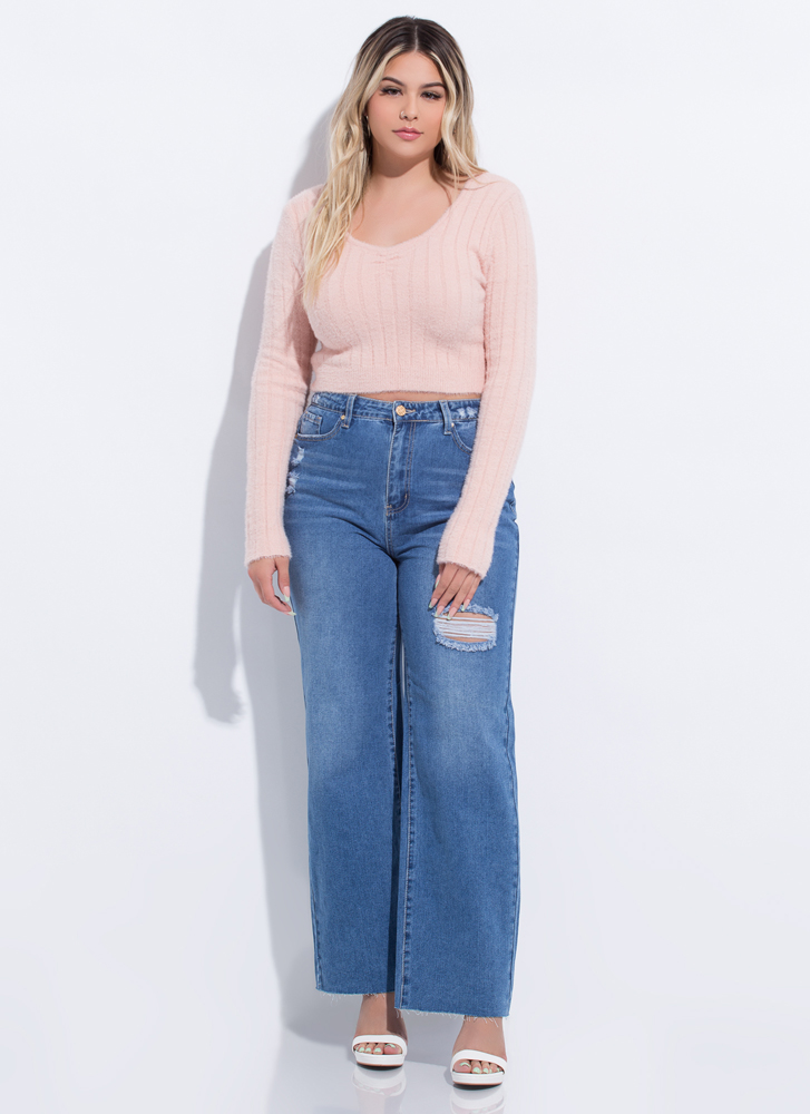 New Fave High-Waisted Wide-Leg Jeans MEDBLUE