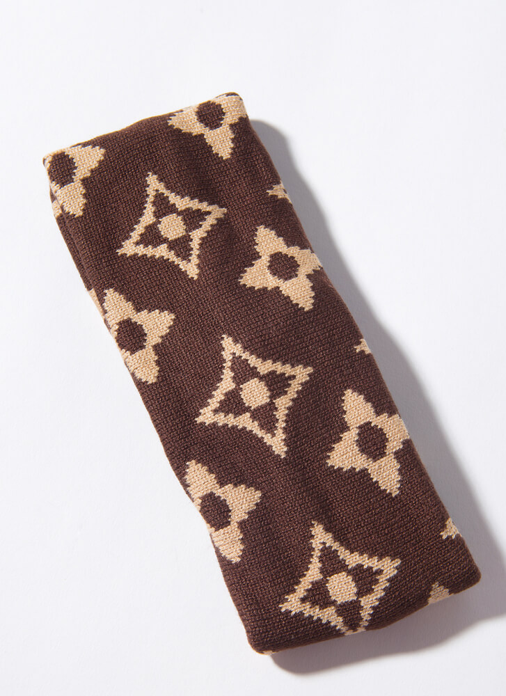 Luxe Like A Cold One Patterned Headband BROWN