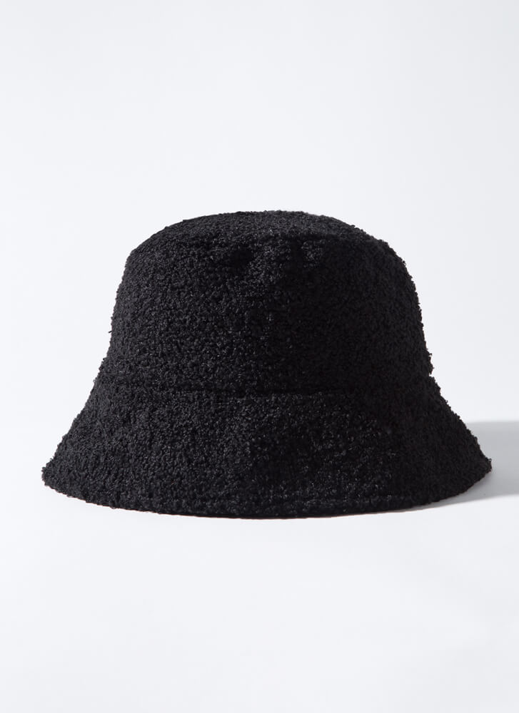Quilted Cool Reversible Bucket Hat BLACK