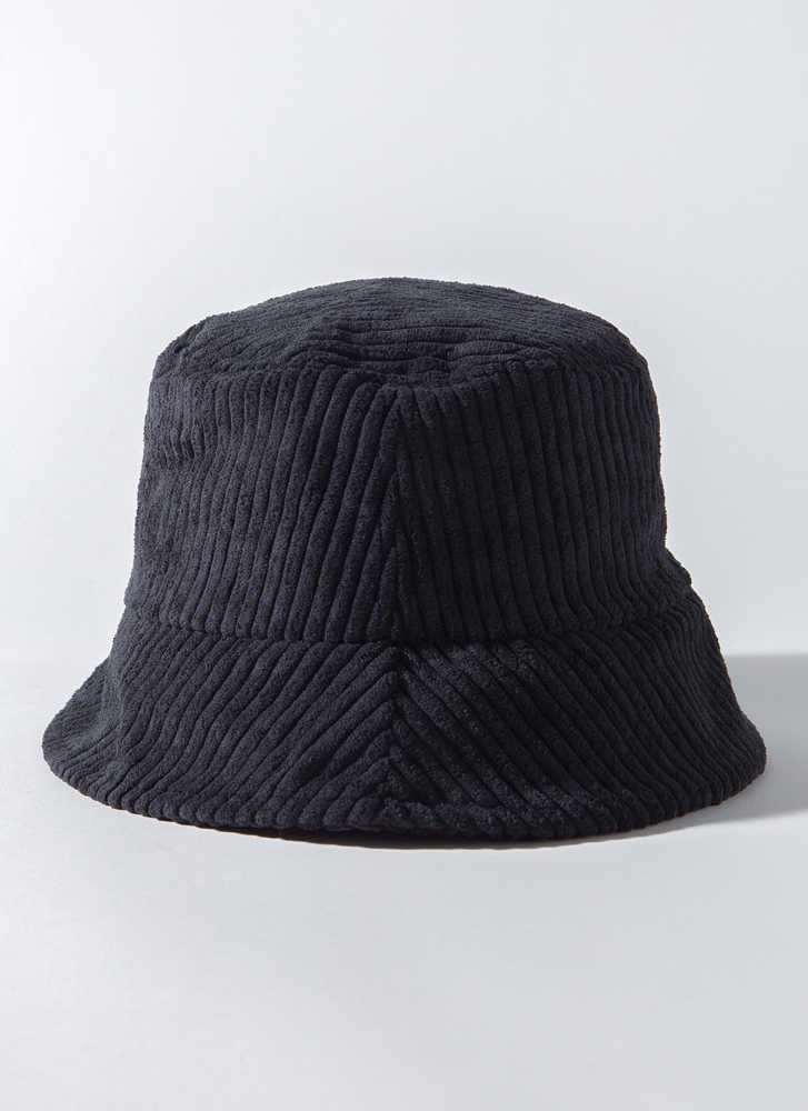 Back To The 90's Corduroy Bucket Hat BLACK
