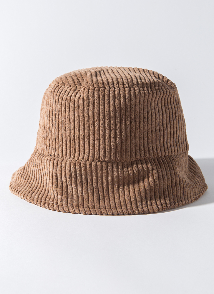Back To The 90's Corduroy Bucket Hat CAMEL