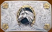 Horse & Horseshoe Buckle