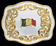 Customizable Belt Buckle - Mexican Flag