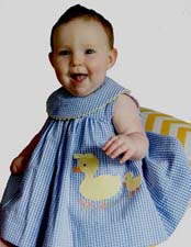 NEW Bailey Boys Royal Checked Dress with Appliqued Ducks (CC1202)