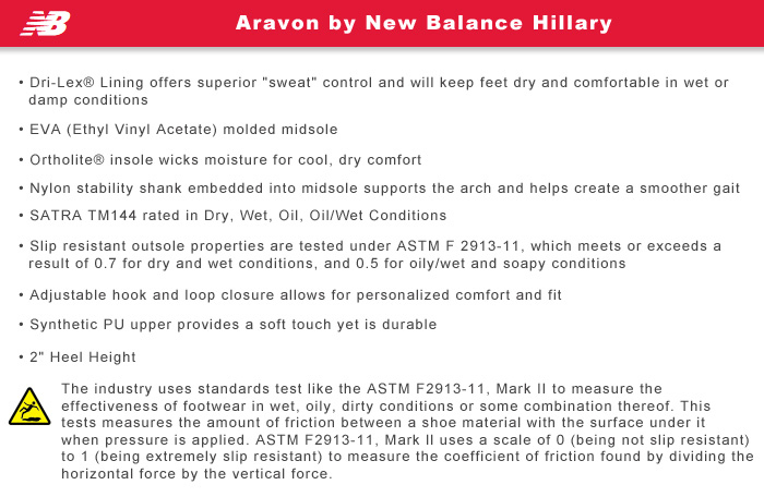 Aravon by New Balance Features Information: Hillary
