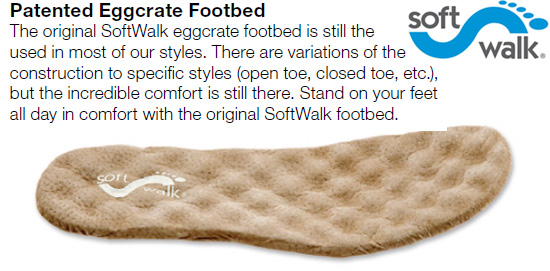 softwalk patented eggcrate footbed