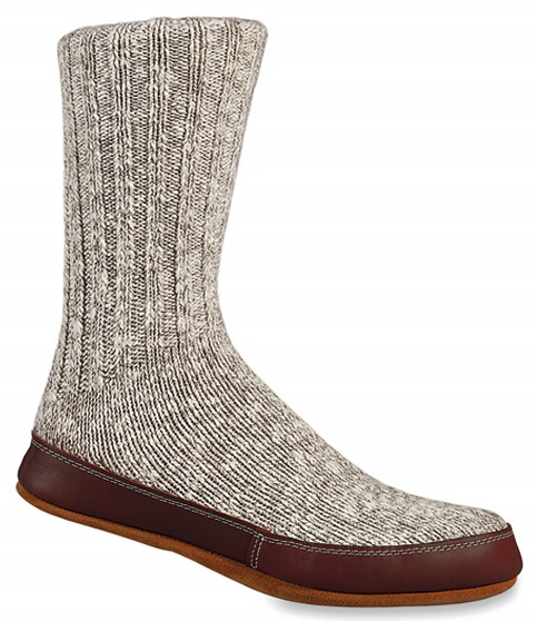 Acorn Grey Cotton Twist Slipper Socks For Men And Women