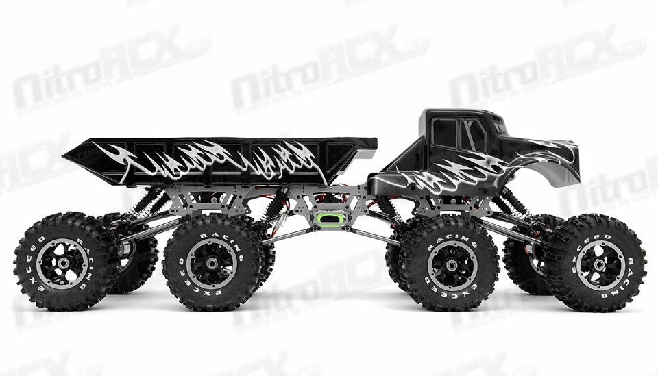 exceed rc 1/8 scale mad torque 8x8 rock crawler 2 4ghz ready to run rc  remote control radio truck