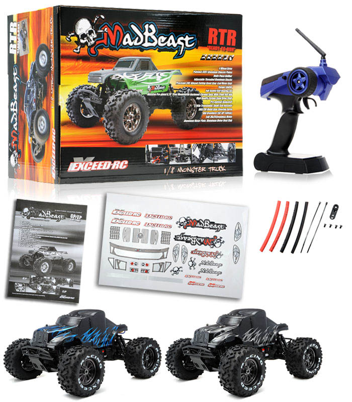 1/8Th EP Mad Beast Monster Truck Racing Edition Ready to Run w/ 540L ...