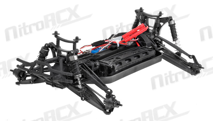 iron track katana 1 10 scale 4wd electric truggy ready to run  red  rc remote control radio car