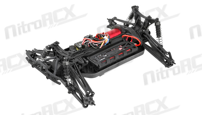 iron track bowie 1 10 scale 4wd brushless truck almost ready to run  red  rc remote control