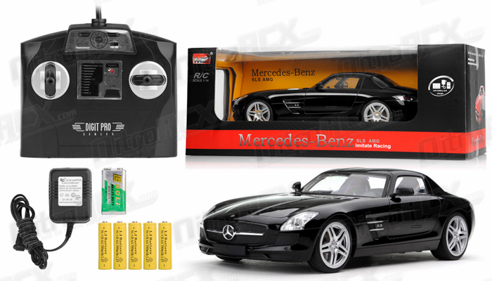 Licensed 1 14th Scale Meedes Sls Amg Electric Car Rtr Black Rc