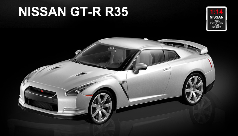 Licensed 1/14th Scale Nissan GTR Ready to Run Control Car with ...