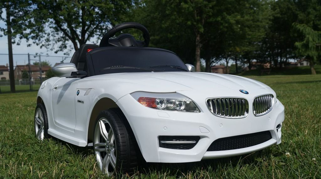 bmw z4 roadster 6v electric childrens battery powered under licensed ride on car with white rc remote control radio car