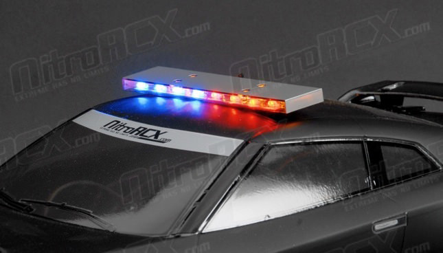 110 scale led police light bar aloadofball Image collections