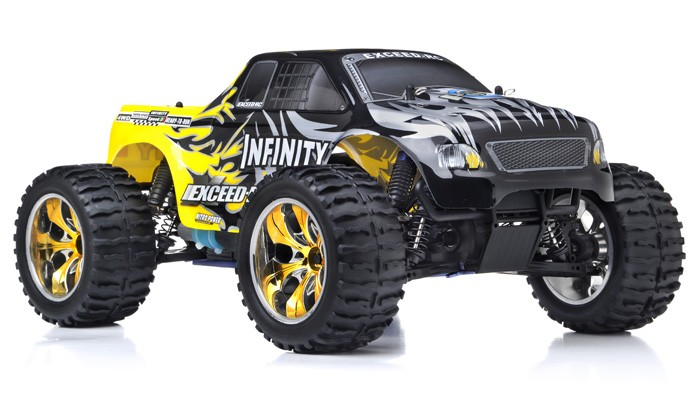 Exceed RC Monster Truck Radio 1/10 2.4Ghz Infinitive Nitro Gas ... on remote control trucks ford, remote control trucks toyota, remote control trucks cars, remote control trucks engine, remote control trucks 4x4,
