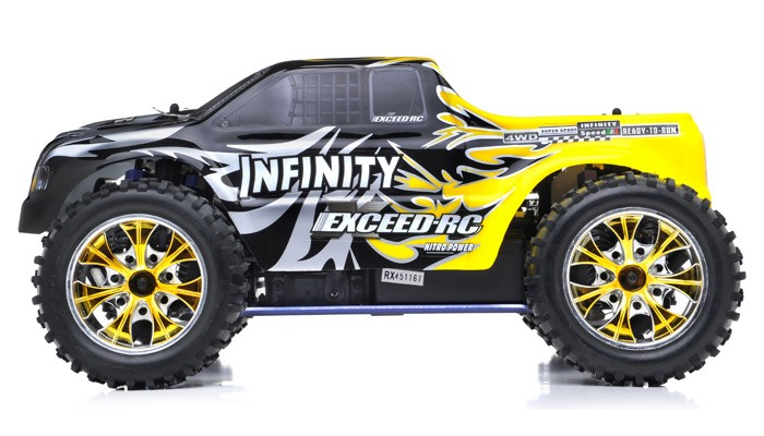 Exceed RC Monster Truck Radio 1/10 2 4Ghz Infinitive Nitro