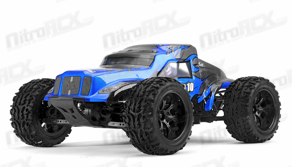 Exceed Rc Racing Legion 1 10 Scale Monster Truck Ready To Run 2 4ghz Dd Blue Rc Remote Control Radio Car