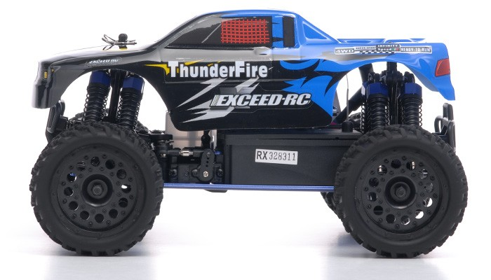 truck radio car 1 16 2 4ghz exceed rc thunderfire nitro gas powered rtr off road truck sava blue. Black Bedroom Furniture Sets. Home Design Ideas