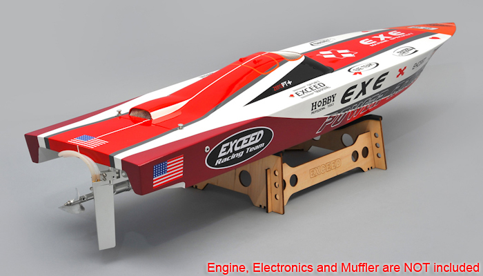 New Exceed Racing Fibergl Gas Powered RC 1300mm Speed Boat Kit ... on rc race sponsors, rc race parts, rc race trailers, rc race engines,