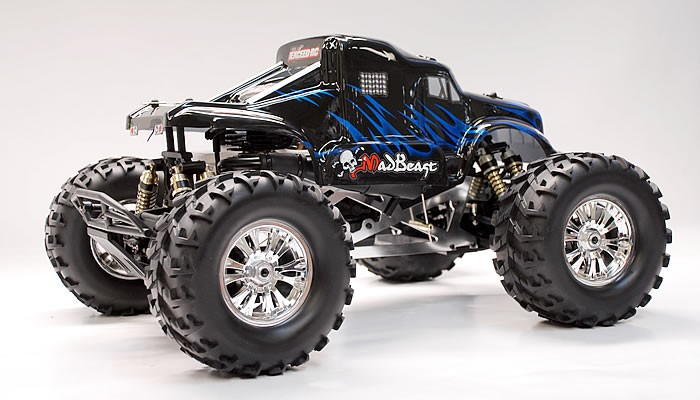 1 8 th scale exceed rc monster truck madbeast nitro gas almost ready to run artr version rc. Black Bedroom Furniture Sets. Home Design Ideas