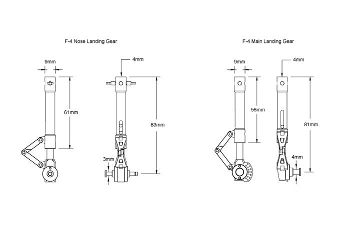 projet f4e scale landing gear part